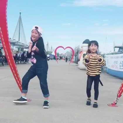 韩国汉江边跳舞 空气不错呦