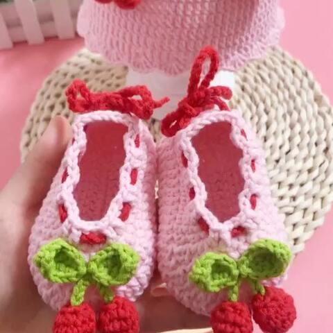 【芸手工美拍】🍒宝宝鞋教程-2#手工#鞋帮第一圈...