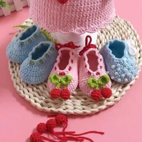 【芸手工美拍】🍒宝宝鞋子教程-10#手工#http://...