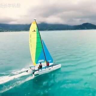 Hobie系列双体帆船教学,体验#运动##GoPro ##潜水#