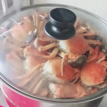 #吃秀#仙女们你们螃蟹喜欢吃公的还是母的阿