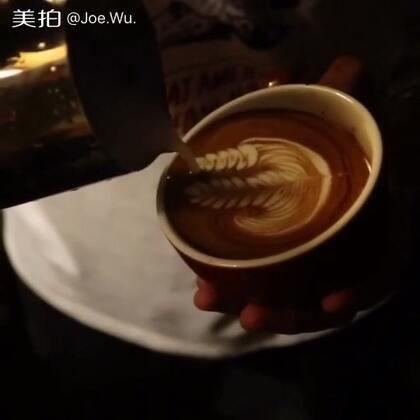 #我要上热门@美拍小助手#周末咖啡拉花分享,微信:Ykhehuamei