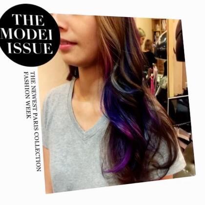意外發現草稿夾裡的影片去年的彩色漸層染真的好美#染发是条不归路##渐变染发#造型#发型#