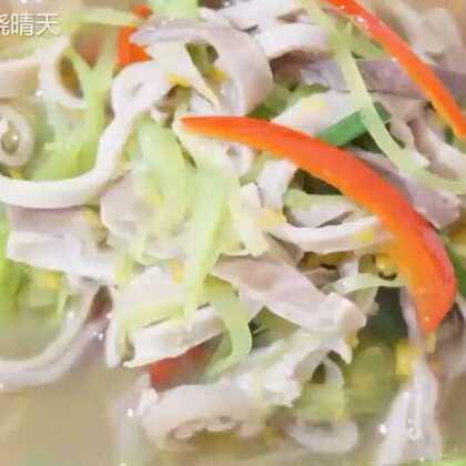 <金汤肚丝&莴笋条肚丝>两道菜差不多食材,两种口味,不一样的感觉#美食##海椒记#