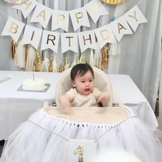 Happy第一个生日🎂#寶寶##可爱宝宝#
