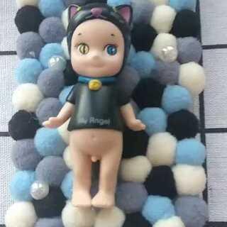 毛球款天使娃娃,美#来晒手机壳#美美#手工#