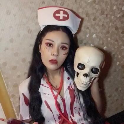 万圣节护士和鬼新娘偶遇#万圣惊魂夜#@萱子🚁 #万圣变妆趴##有戏#@美拍小助手