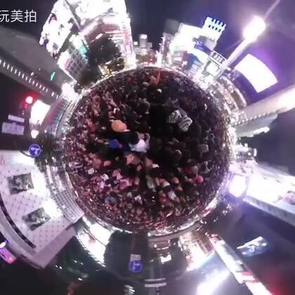 360度全景日本涩谷万圣节