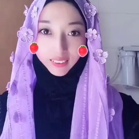穆斯林纱巾教程 穆斯林纱巾戴法 楚楚 的美拍图片