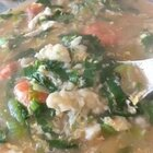 #美食##家常菜##热门#小白菜疙瘩汤,炒油菜,辣子鸡丁,烫了个秋葵,还有妹妹带来的螃蟹酱,阿胶糕。