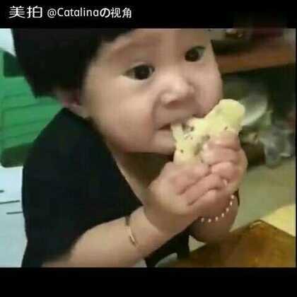 为了吃也是拼了,看的我都跟着使劲了哈哈😂