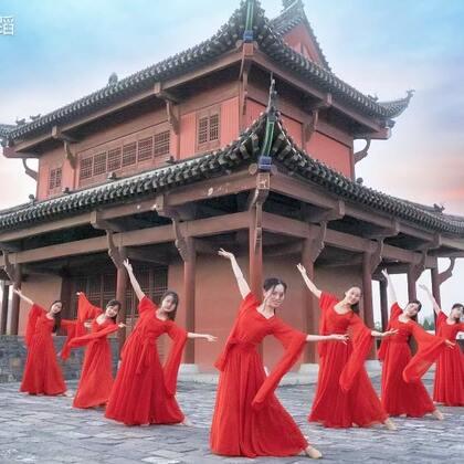 大红裙中国舞这么美,#古风#满满,#我叫小仙女#!➕微信danse112一起来#舞蹈#咯😘