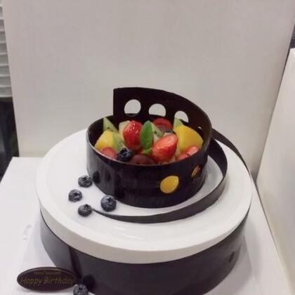#美食##甜品##美食作业#巧克力蛋糕,清爽不?😊