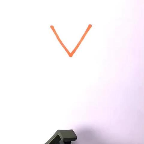 字母v变身简笔画