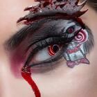 感谢camoeyes的红色螺旋美瞳给了我这个灵感~ 这个积木齿轮眼妆如何?#美瞳控##今日眼妆#