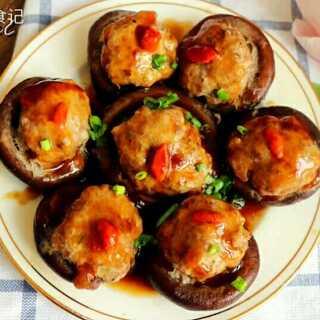 香菇酿肉丸的这个做法,看一遍就会,鲜美可口,看着就很有食欲,吃一个就上瘾#美食#