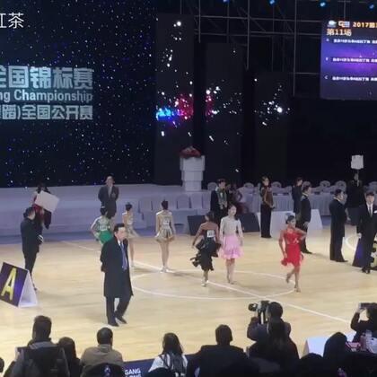 第一次挑战的14岁A组决赛牛仔舞(这场的选手实力都太强了,听说还有黑池冠军在里面)#2017第31届CBDF全国锦标赛##舞蹈##拉丁舞#