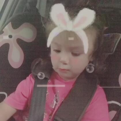 #兔子舞#在车里等着无聊自拍的#小团子#😂#宝宝#