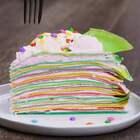 彩色千层覆盆子蛋糕来啦~清新的覆盆子搭配五颜六色的蛋糕皮,吃一口心情都瞬间变美丽了呢👑👑一起用五彩的心情赶走冬日的枯燥吧🎉🎉#美食##半夏食谱##我要上热门#