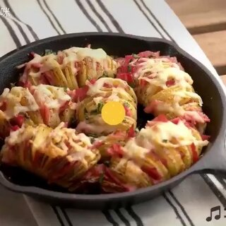 听说冬天吃土豆还能抗寒哦!50秒🍉料理,教你做一道美味风琴马铃薯 #美食#