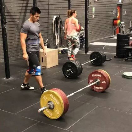 My friend made me do so many deadlifts today 😫 #crossfit#