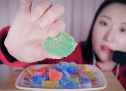 #助眠视频asmr##hanjiyi asmr##吃播asmr#宝石糖咀嚼音。hanjiyi终于更新了,hanjiyi最后居然把这一盆都吃掉了😂明天更新✨rappeler✨请戴耳机食用💤