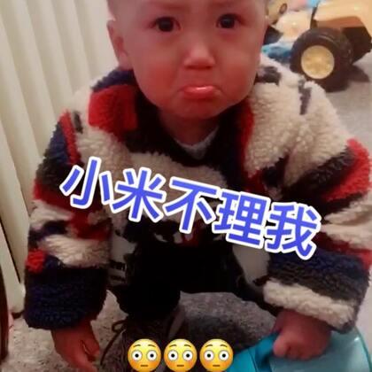 #宝宝#叫小米不理他,委屈的。。。