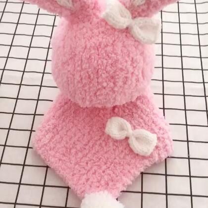 绒绒小兔帽子教程-1#手工#