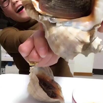 #吃秀##我要上热门##我要上热门@美拍小助手#🔥🔥无敌超级大海螺,一个能吃饱。将近2斤的海螺👍👍