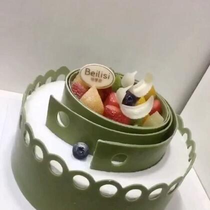 #美食##甜品##美食作业#抹茶巧克力蛋糕