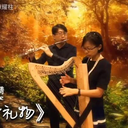 🎼🎶竖琴·长笛《有一件礼物》Paul & Valerie #长笛##竖琴##音乐# 🎄🎅🏻💕