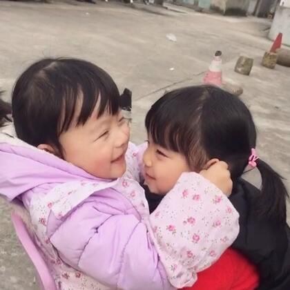 #宝宝#两小无猜,两只小美女。