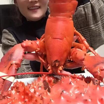 #吃秀##我要上热门##我要上热门@美拍小助手#🔥🔥龙虾好久不吃了,小的是特别嫩!喜欢看我就不定时的啃👍👍