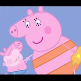 #宝宝##小猪佩奇##粉红猪小妹# 乔治说难过的时候,好可爱 😊