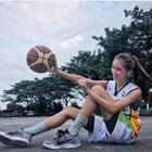 会打篮球的女孩子真的很美~❤