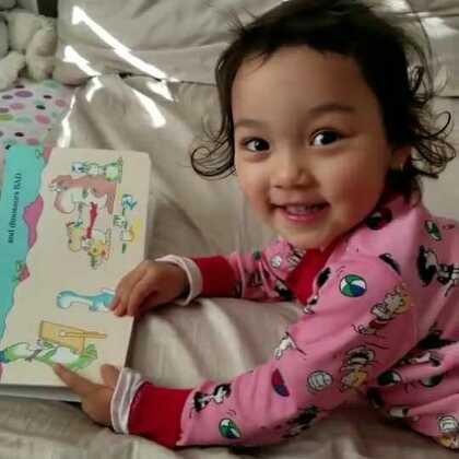 会自己念书了😊😊😊#萌宝宝##宝宝成长日记#