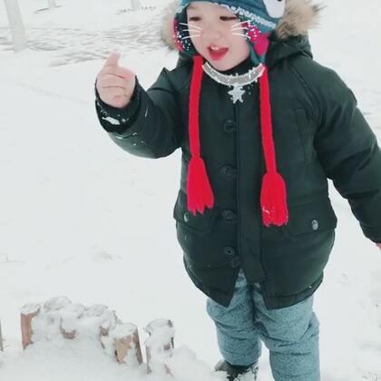 瑞雪兆丰年 我们下楼玩雪啦#游戏##下雪啦##热门##Ethan39个月#