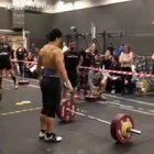 Bad quality of video, but still manage a 133kg clean #crossfit##举重#
