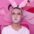 #美妆#圣诞兔子妆,其实我本来打算化一头猪的,但我脸上没肉不憨实,创意的兔子你们也会喜欢的#圣诞妆#关注分享视频,后面有福利哦!https://college.meipai.com/welfare/93b786d1fe1e19fc