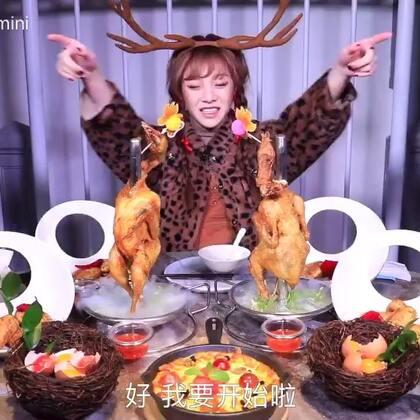 【大胃mini】究竟卖多少苹果,才能换一顿圣诞大餐?#吃秀##热门##大胃王mini#@美拍小助手