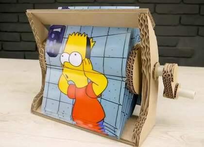 教你DIY一个动画机,动画图片得网上搜然后打印出来哦#手工##生活DIY教程#