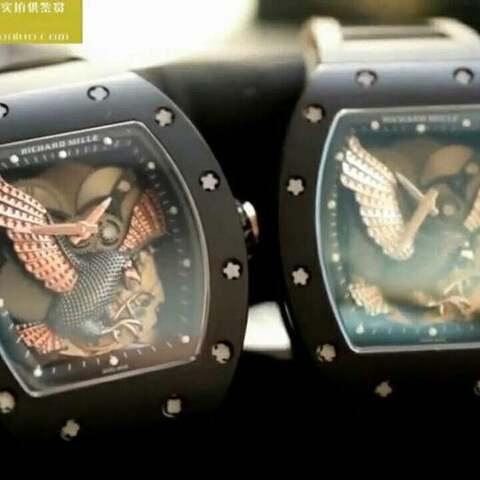 【蜗牛名表视频评测美拍】KV新品-RM023-02 立体鹰雕图案~...