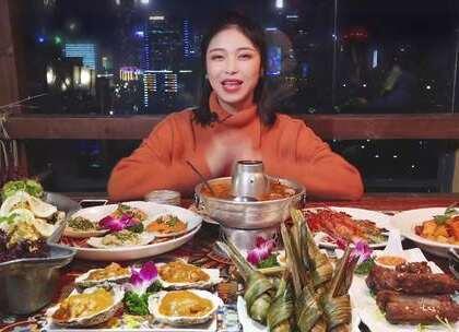 好吃到饮尽一锅汤?东南亚美食盛宴,治愈你的挑食症!👻#大胃王朵一##吃秀##美食一朵朵#