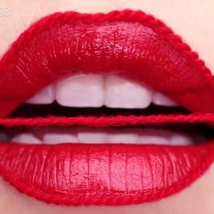 浪漫针织红唇💋#美妆##艺术唇妆##视觉系彩妆#这款唇妆有木有让亲们在这寒冷的冬天感受一丝温暖呢😄喜欢的亲们多多关注留言转发吧😘么么哒💋