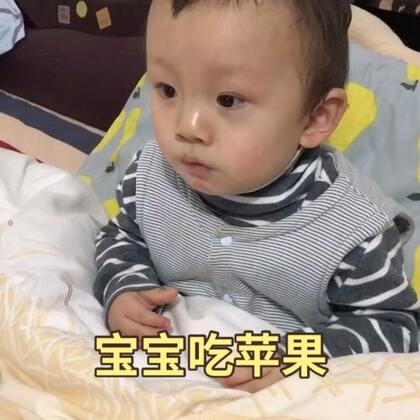 弟弟好可爱,吃苹果吃的萌我一脸😂😂#宝宝##萌宝宝##弟弟十三个月##我要上热门@美拍小助手#