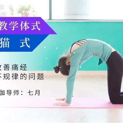 #瑜伽教学#猫式:有效改善痛经,经期不规律的问题@单色瑜伽七月凉 #女性健康#