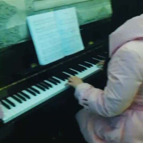 【一星钢琴美拍】#棉花糖手势舞图片