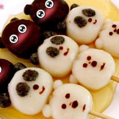 ✨三只裸熊蜂蜜丸子😋没有做红糖酱汁,喜欢吃蜂蜜,觉得蜂蜜跟丸子很配哦😘草莓蛋糕卷那个视频抽中的宝宝是@a-丫丫_. @纯白爱心🌷 @Alina_芷怡💗 艾特的三个宝宝加我主页微信送红包😘福利视频明天见😘#网红美食大盘点##美食##甜品#