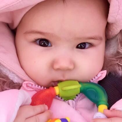 #宝宝##混血宝宝##荷兰混血小小志&柒#每次推小柒出门都想起小志小时候,区别是志出门一直睡,雷打不动!小柒正好相反😂😂😂因为女孩敏感吗?哈哈哈!你们会不会这样?