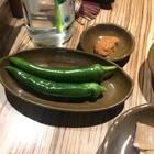 安东牛肉汤饭~~也不错~ 那个辣椒看着辣 一点也不辣 跟黄瓜差不多~~^^#吃秀#